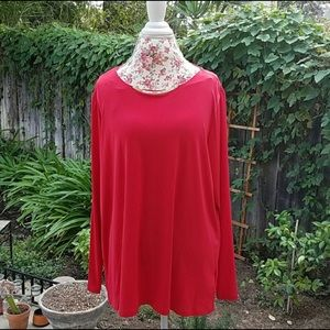 Beautiful blouse Red with metallic plate MK